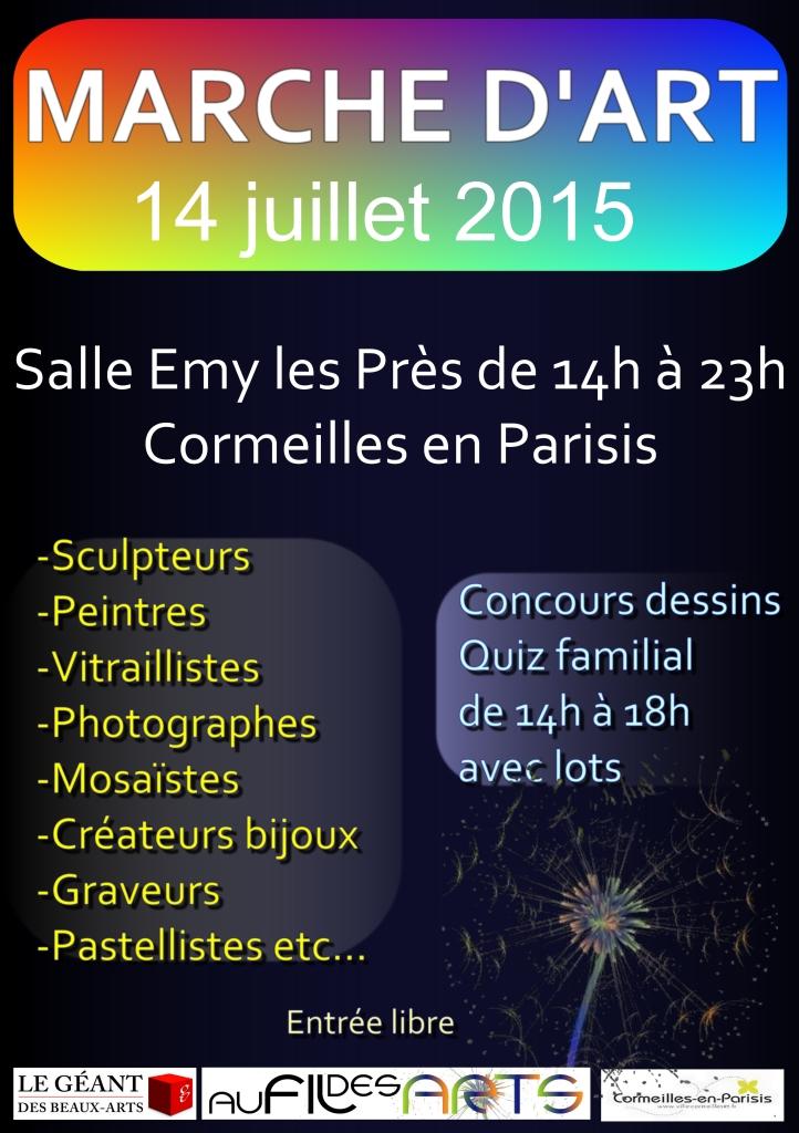 Affiche et flyers marche d art du 14 juillet
