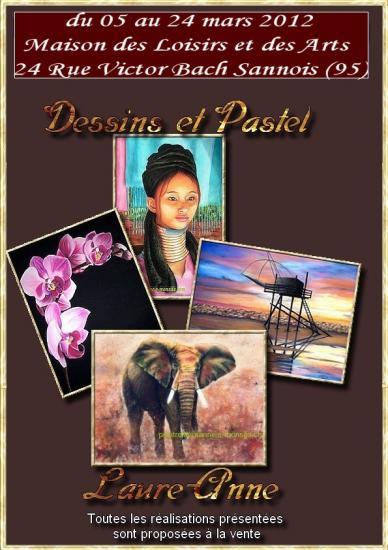 affiche exposition Sannois Pastel sec du 03 au 24 mars 2012