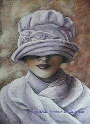 portrait dessin au pastel sec femme des années 20 les années folles