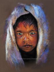 pastel sec portrait enfant