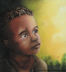 portrait pastel sec enfant d'afrique Baiana.jpg