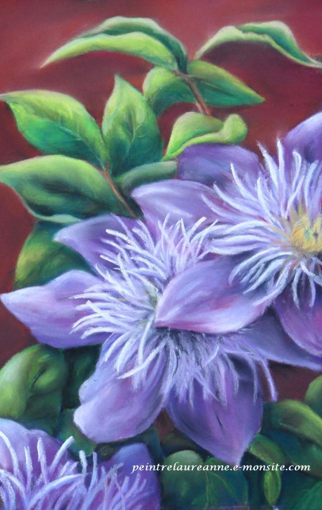 Dessin pastel fleurs - Peinture au pastel sec ...