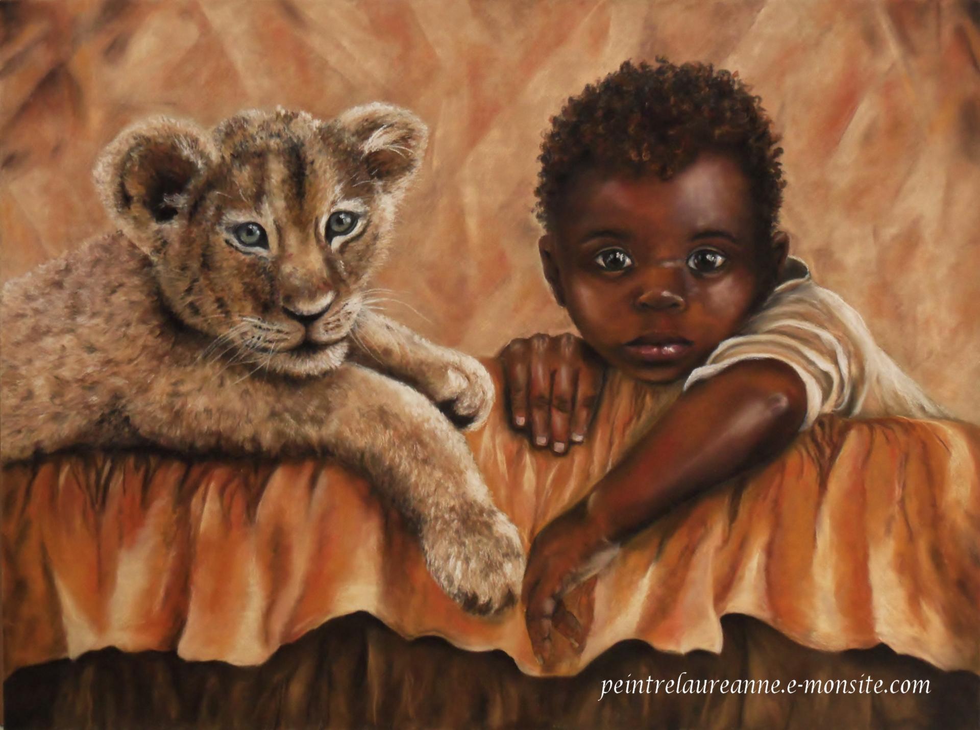 Portrait au pastel sec de laure anne - Dessin paysage africain ...