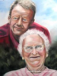 portrait de famille-nathalie au pastel sec