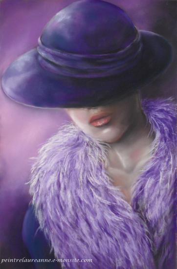 pastel sec Laure-Anne