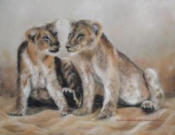 pastel sec lionceaux .jpg