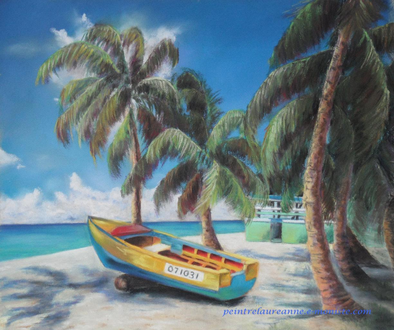 Nature Scenery Paysage De Mer Au Pastel Sec