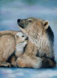 ours au pastel sec sur pastel card