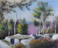 pastel sec paysage