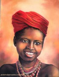 portrait pastel sec petite fille africaine 2.jpg