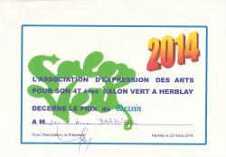 Prix dessin salon vert herblay 2014