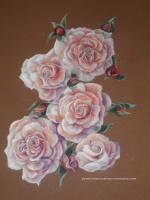 Roses pastel sec Laure-Anne