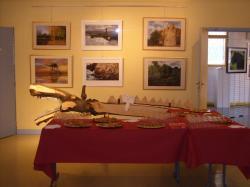 buffet du vernissage de l'exposition de Sannois Dessins et Pastel