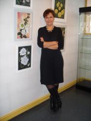 Laure-Anne à l'exposition de Sannois Dessins et Pastel