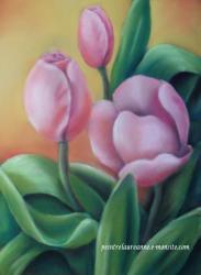 dessin tulipes pastel sec laure-anne